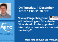 """#ENRIITCyourCoffee Episode 3 """"How should RIs be organised internally to promote an innovation mentality?"""